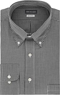 Van Heusen Mens Dress Shirts Regular Fit Gingham Button Down Collar