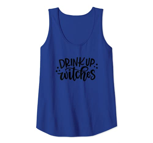 Womens Drink Up Witches Halloween Fun Tank Top