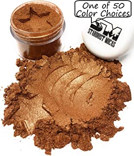Stardust Micas Metallic Mica Pigment Powder Cosmetic Grade for Soap Making, Epoxy Resin, Makeup, Coloring Slime, Bright True Colors Stable Mica Colorant Bronze Age