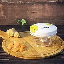 Royalford Mini Vegetable Chopper & Blender with Storage Lid | Chops Vegetables, Nuts & Fruits | Blends Flour | Egg Beater | Meat Mincer | Large