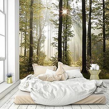 Arbre avec soleil en Forêt PHOTO PAPIER PEINT MURAL 74356723