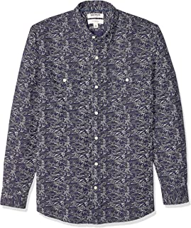 Goodthreads Amazon Brand Men's Slim-Fit Long-Sleeve Linen and Cotton Blend Shirt