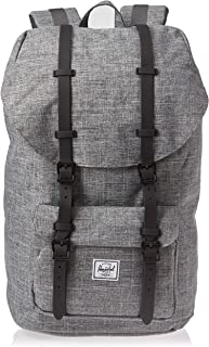 herschel little america mid volume black rubber