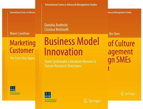 International Series in Advanced Management Studies (8 Book Series)