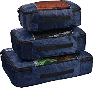 Hopsooken Packing Cubes System - 3 Pieces Sets Travel Luggage Packing Organizers (Darkblue)