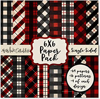 "6X6 Pattern Paper Pack - Red & Black Buffalo Check - Card Making Scrapbook Specialty Paper Single-Sided 6""x6"" Collection I..."