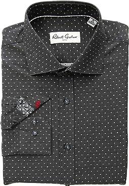 Denis Solid Dot Long Sleeve Dress Shirt