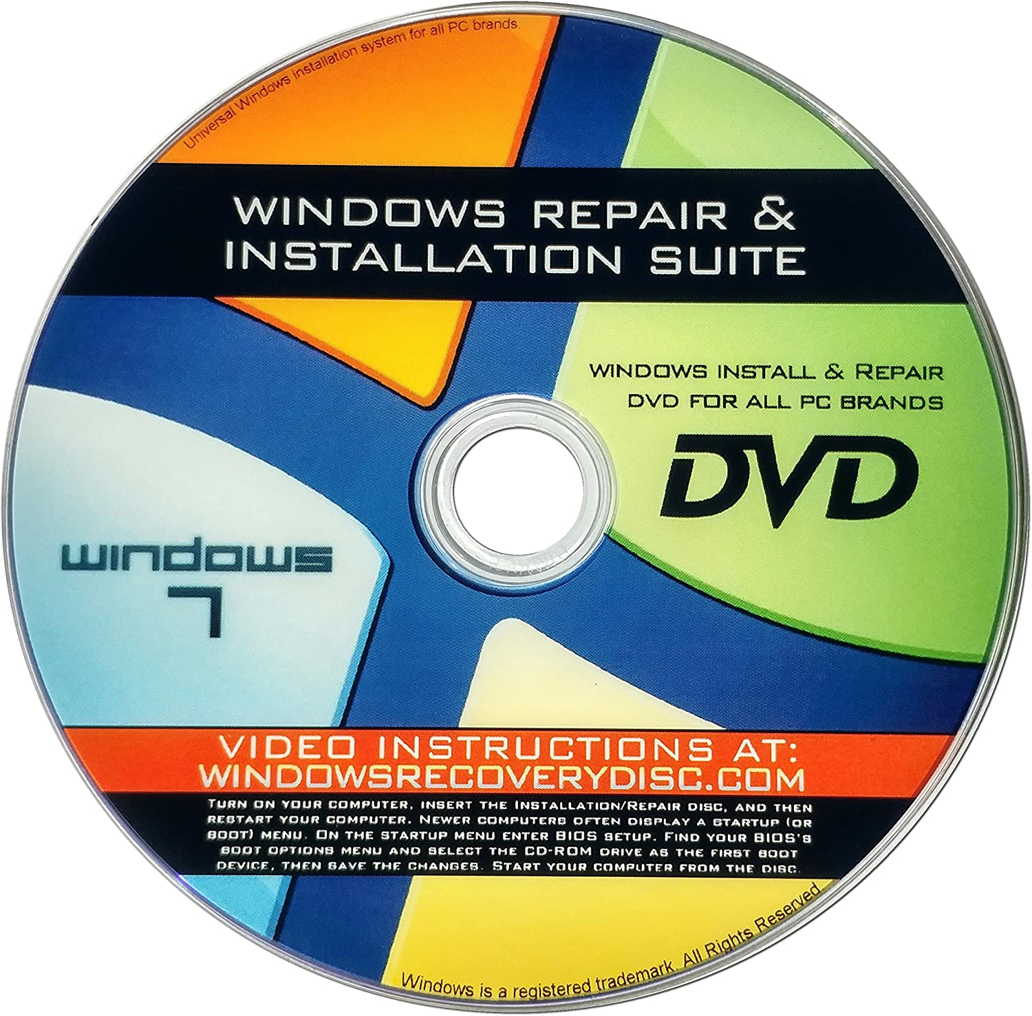 Recovery Repair Classic Re-install disc compatible w Versions All of Very popular!