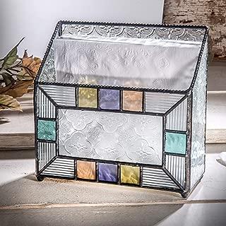 J Devlin Dis 203 Napkin Holder Kitchen Decor Vintage Glass Napkin Tray