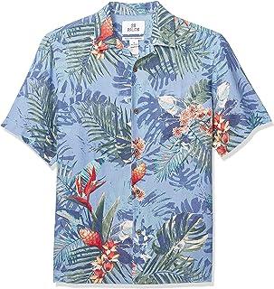 d649ea3ca269f Amazon Brand - 28 Palms Men s Relaxed-Fit Silk Linen Tropical Hawaiian Shirt