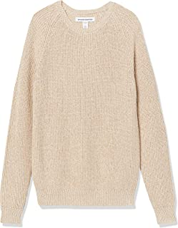 Men's Long-Sleeve 100% Cotton Rib Knit Shaker Crewneck...
