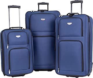 """3 Piece Expandable """"Genova Collection"""" Travelers' Value Set with 29"""" Large Rolling Upright, 26"""" Suitcase, and 20"""" Carry-On..."""