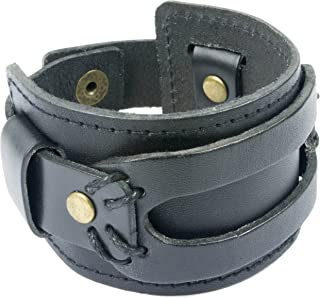 High Comfort Genuine Leather Cuff Bracelet - Mens