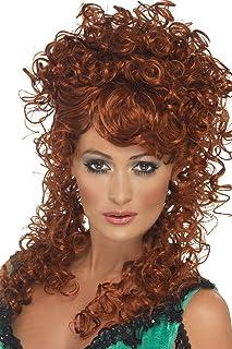 Smiffy's Women's Saloon Girl Wig Auburn Long and Curly