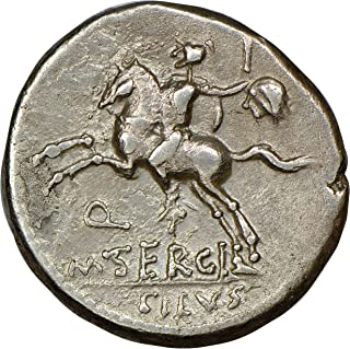 IT 116-115 BC Ancient Roman Republic Horseman with Sword and Severed Head of Barbarian Silver Coin Coins AR Denarius Choice Very Fine NGC