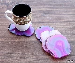 eSplanade Natural Agate Coasters Bar Beer Coffee Tea Coaster - Set Of 4 Coasters - Perfect Table Accessories Tableware