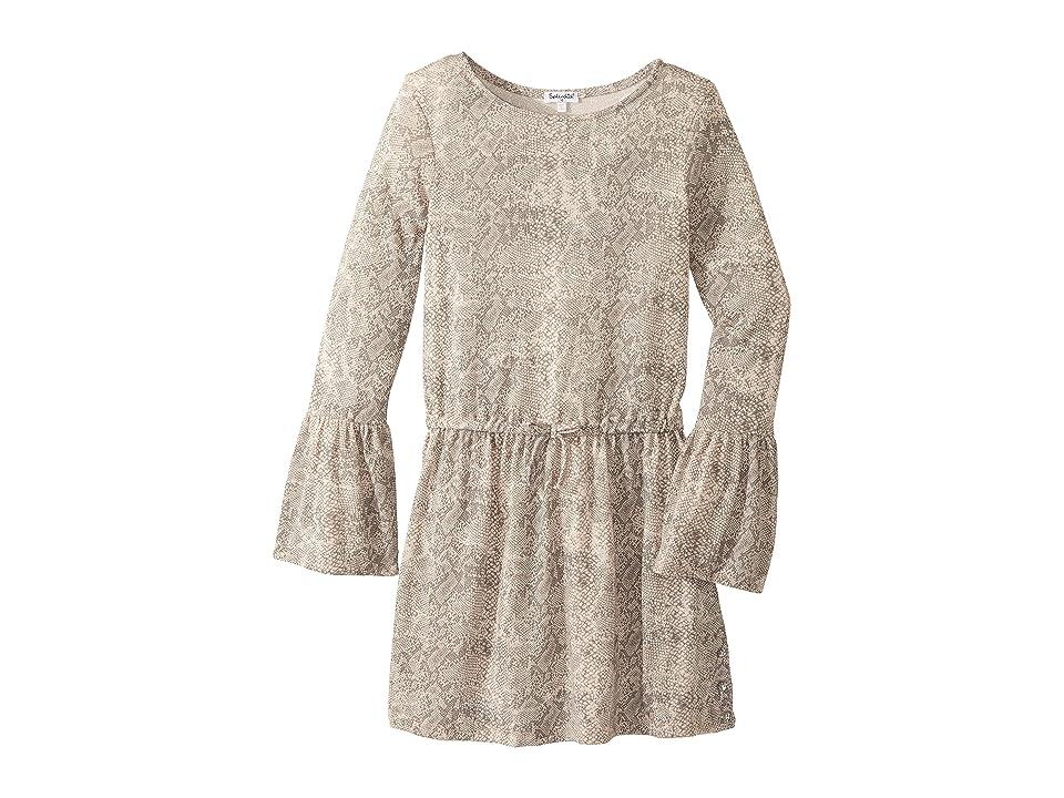 Splendid Littles Python Print Loose Knit Dress (Big Kids) (Print) Girl