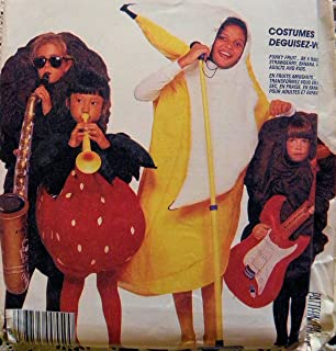 McCall's 3420 Banana , Raisin, Strawberry Adult and Child Costume Sewing Pattern