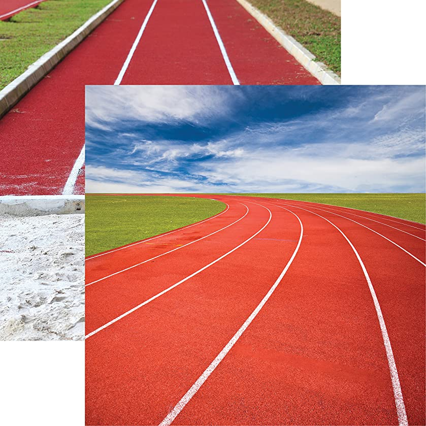 Reminisce Run Forever Track and Field Double-Sided Cardstock 12
