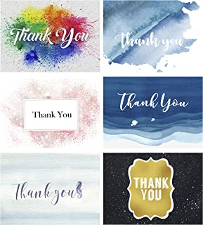 Darling Souvenir Floral Assorted Thank You Card Folded Blank Note Appreciation Greeting Card-Pack of 36 Pieces