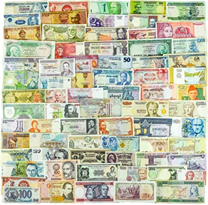 UNC//Circ Lot 50 Different Foreign paper Money REAL Banknotes WORLD CURRENCY