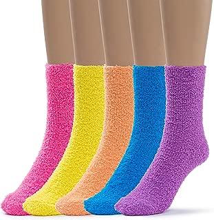 Womens 5 Pairs Warm Fuzzy Slipper Casual Socks