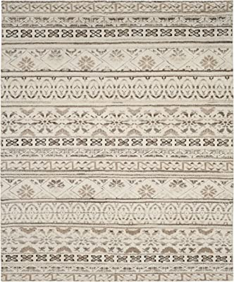 Safavieh Challe Collection CLE316A Hand-Knotted Premium Wool Area Rug, 8' x 10', Natural