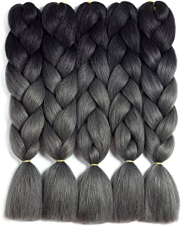 Synthetic Braiding Hair Kanekalon Ombre Braiding Hair Crochet Braids Twist Hair Extensions 5 Pieces/Lot 24