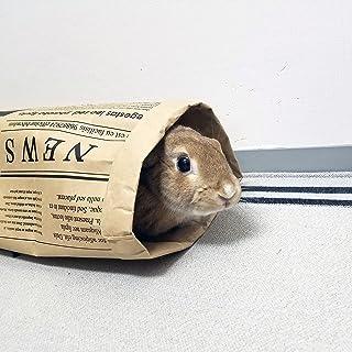 [ハッピーホリデイ]小動物用紙製トンネルへやんぽトンネル 英字新聞柄
