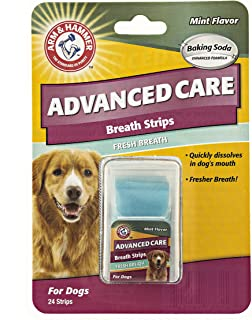 Arm & Hammer Advanced Care Fresh Breath Strips for Dogs   Fresh Dog Breath Without Brushing   Dog Dental Care Solutions