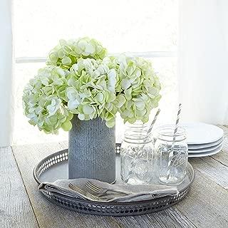 Butterfly Craze Artificial Hydrangea Silk Flowers for Wedding Bouquet, Flower Arrangements - Green Color, 3 Stems Per Bundle