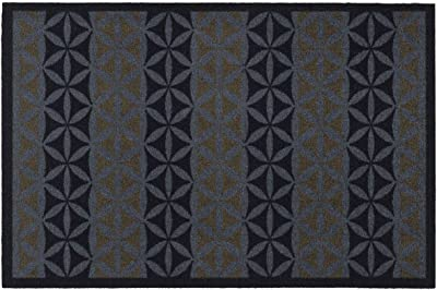 World Entrance Mat Polyamide Anti-Dust Grey and Brown 50 x 75 cm