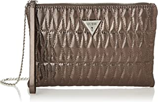 GUESS Boys Pixi Wristlet Clutch Shoulder Bag, Color: Brown