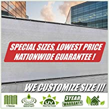 ColourTree Customized Size Fence Screen Privacy Screen Grey 5' x 12' - Commercial Grade 170 GSM - Heavy Duty - 3 Years Warranty