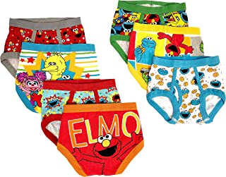 Sesame Street Boys Character Toddler 7 Pk Underwear Briefs - Multi
