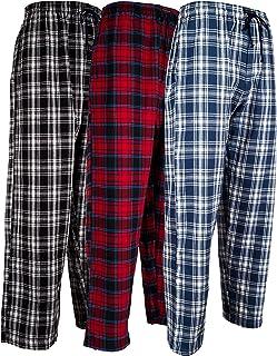 f7016d62d9 Andrew Scott Men s 3 Pack Cotton Flannel Fleece Brush Pajama Sleep   Lounge  Pants