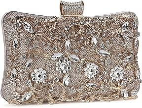 Tanpell Womens Crystal Evening Clutch Bag Wedding Purse Bridal Prom Handbag Party Bag
