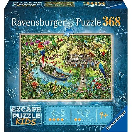 Ravensburger- Escape Puzzle Kids 368 pièces-Un Safari dans la Jungle Room Enfant, 12934