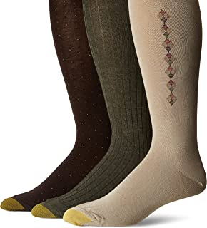 Gold Toe Men's Over the Over the Calf Dress Socks, 3 Pairs