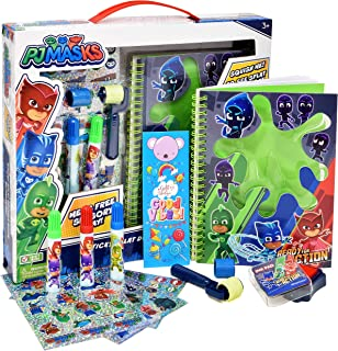 Gift Boutique PJ Masks Drawing Diary Journal Activity Set, Slime Art Sketch Book with Bookmark, Stickers, Markers, and Sta...