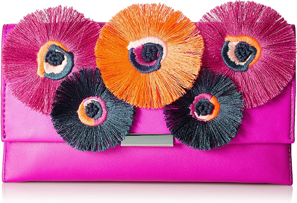 Loeffler Randall womens TABCLTCH-NF Tab Clutch (Nappa/Embroidered Flowers)