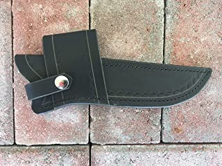 Custom Leather Sheath for Buck 119 Knife; Water Buffalo Dyed Black;Cross Draw, can be Worn on Either Right or Left-Hand Side. Pliable and Durable. Knife not Included. Made in USA