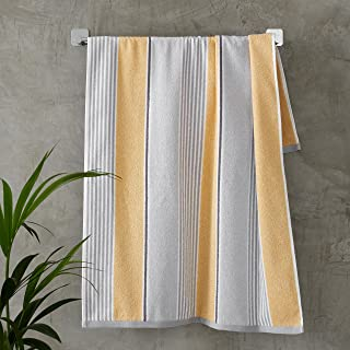 Catherine Lansfield Textured Stripe Hand Towel Ochre