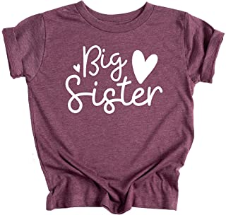 Ella Cole Company Big Sister Announcement T-Shirt for Toddler Girl Big Sister Outfit Big Sister Shirt