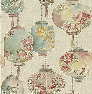 Beacon House 2669-21712 Kana Lantern Festival Wallpaper, Beige