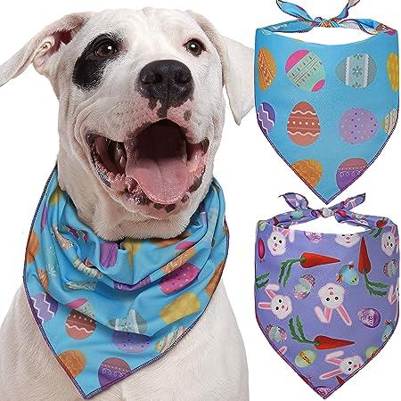 Easter Dog Bandana Custom Dog Bandana Teal Polka Dot Print-\u201cShake your Cotton Tail\u201d with Fluffy Bunny Tail