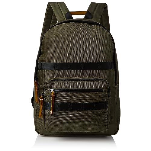 5bab22ef4d New Look Mens Textured Backpack Green (Dark Khaki)
