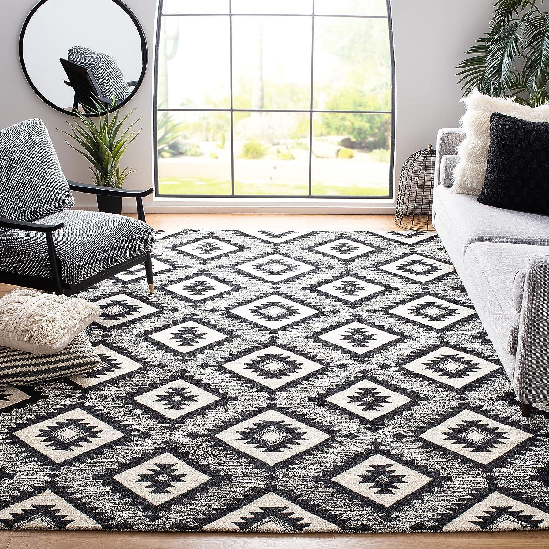 sale SAFAVIEH Aspen Collection APN813Z Handmade Premium Wool R Arlington Mall Living