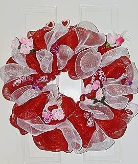 Valentine Day Wreath, Deco Mesh Wreath, Door Decoration, Ready to Ship!