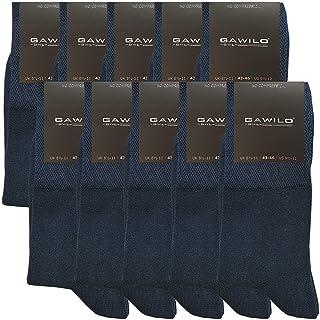 GAWILO Lot de 10 paires de chaussettes de qualité supérieure sans coutures - Pour homme et femme - Coton peigné - Tige ext...